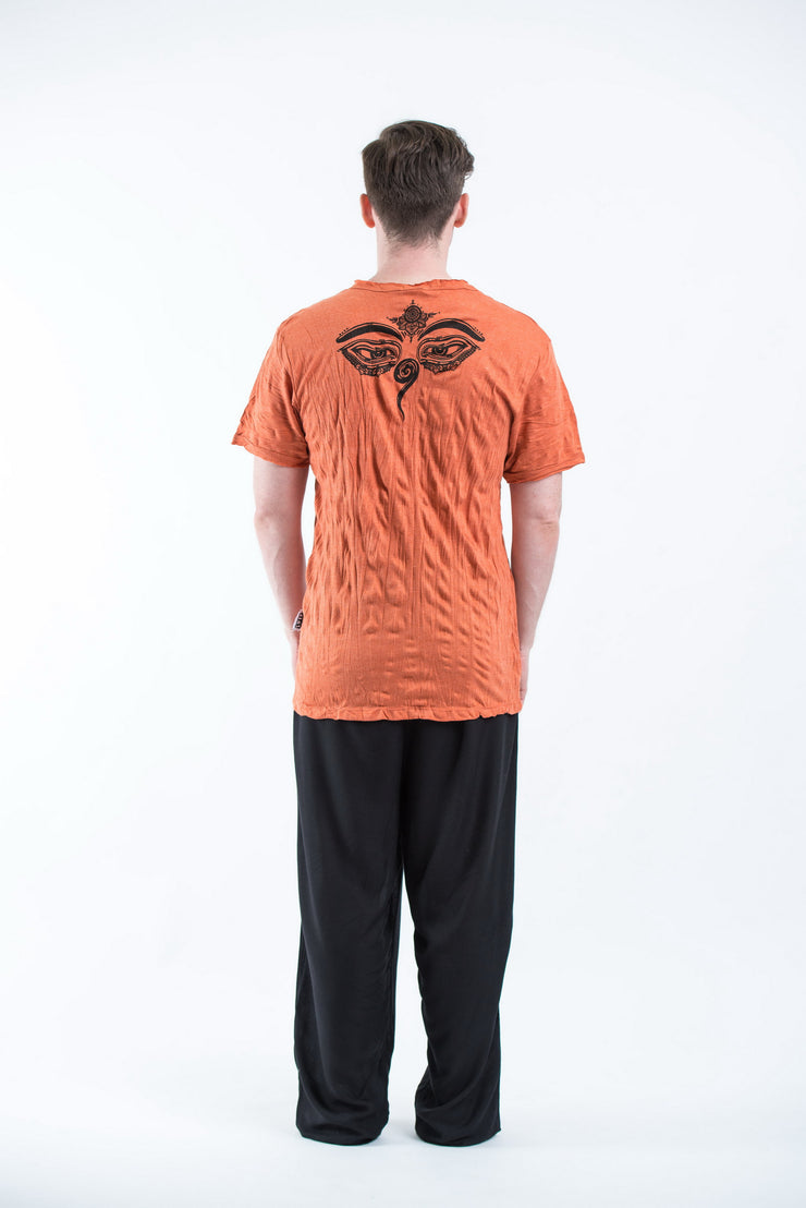 Mens Buddha Eyes T-Shirt in Orange