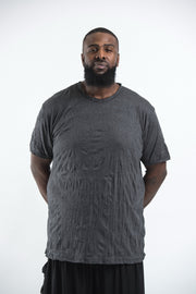 Plus Size Mens Solid Color T-Shirt in Black