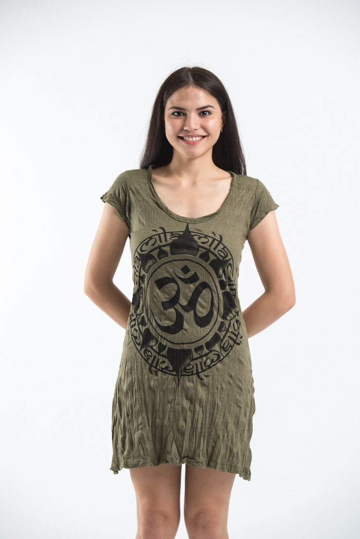 Womens Infinitee Om Dress in Green