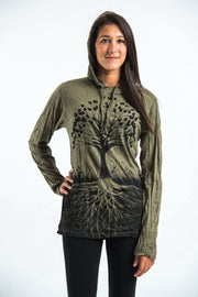Unisex Tree of Life Hoodie in Green