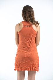Womens Om hands Tank Dress in Orange
