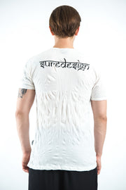 Mens Tattoo Ganesh T-Shirt in White