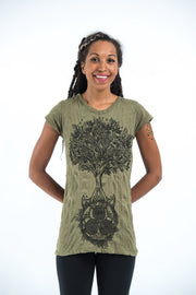 Womens Celtic Tree T-Shirt in Green