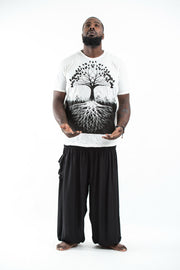 Plus Size Mens Tree of Life T-Shirt in White