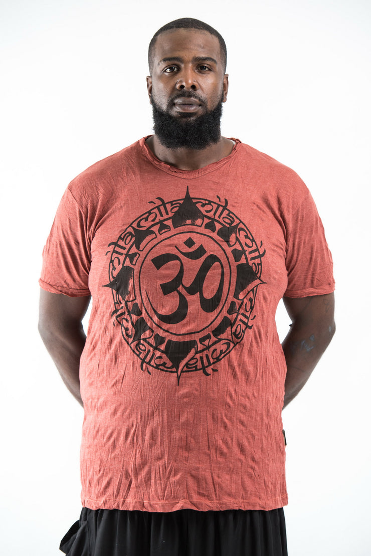 Plus Size Mens Infinitee Om T-Shirt in Brick