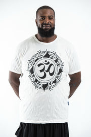 Plus Size Mens Infinitee Om T-Shirt in White