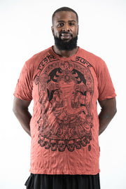 Plus Size Mens Batman Ganesh T-Shirt in Brick