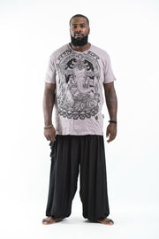 Plus Size Mens Batman Ganesh T-Shirt in Gray
