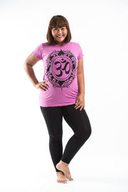 Plus Size Womens Infinitee Om T-Shirt in Pink
