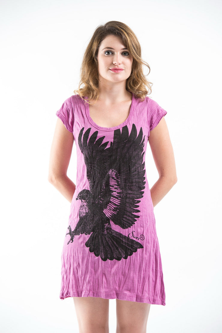 Womens Eagle Dress in Pink