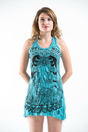Womens Batman Ganesh Tank Dress in Turquoise