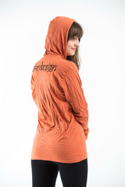 Unisex Infinitee Om Hoodie in Orange