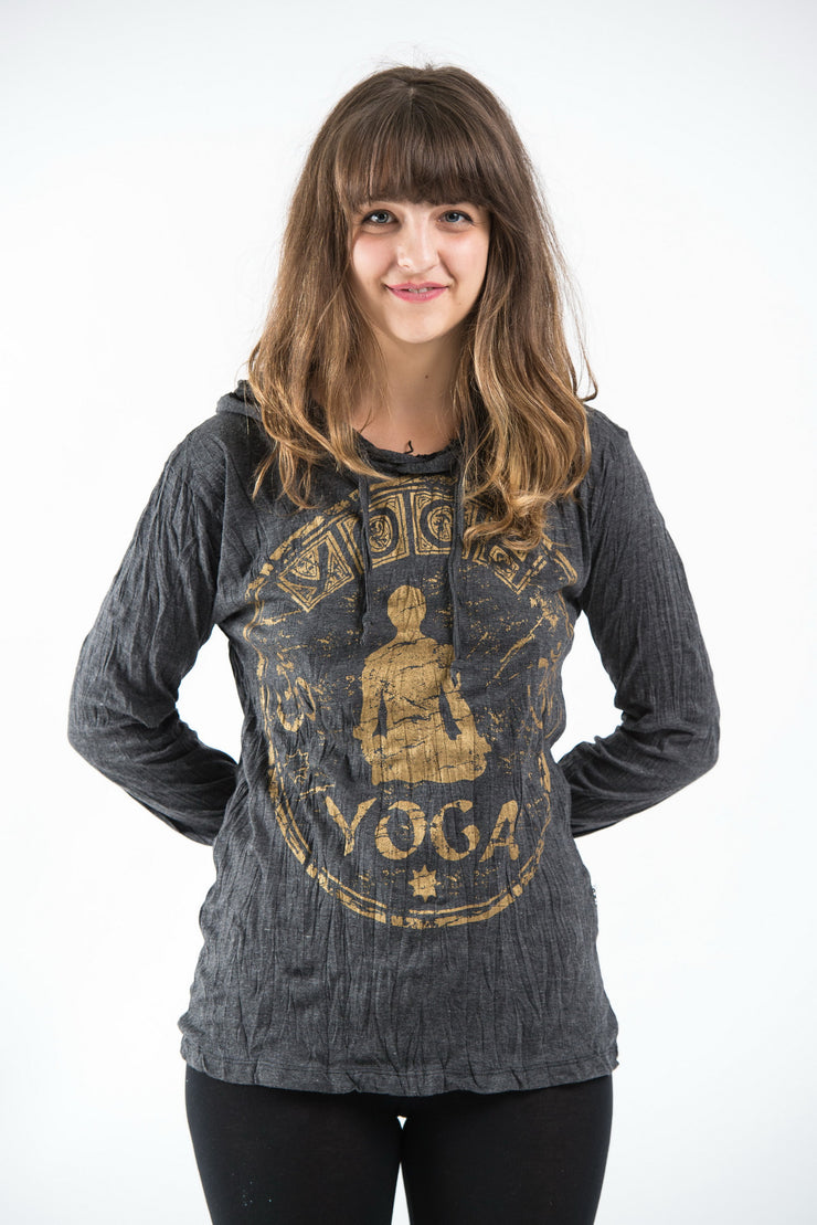 Unisex Infinitee Yoga Hoodie in Gold on Black