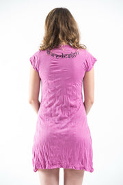 Womens Weed Owl Dress in Pink