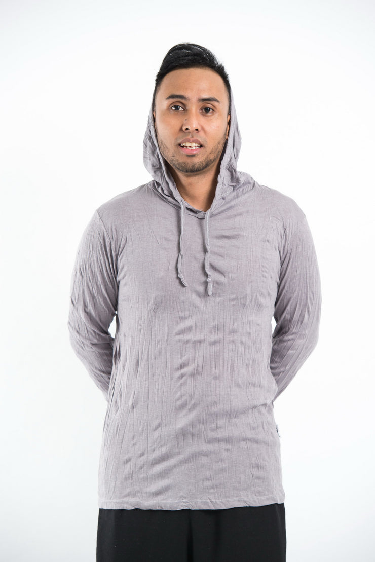 Unisex Solid Color Hoodie in Gray