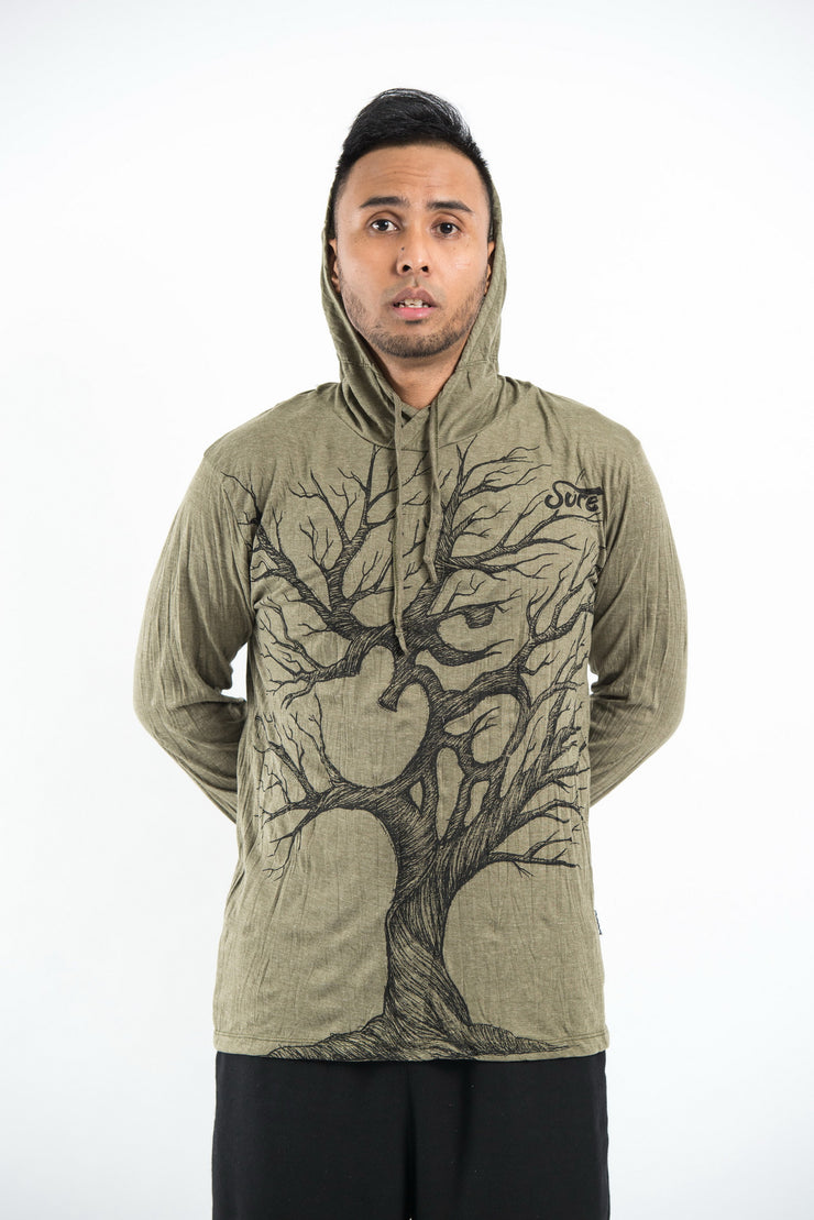 Unisex Om Tree Hoodie in Green