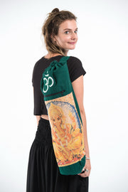 Ganesh Om Yoga Mat Bag in Green