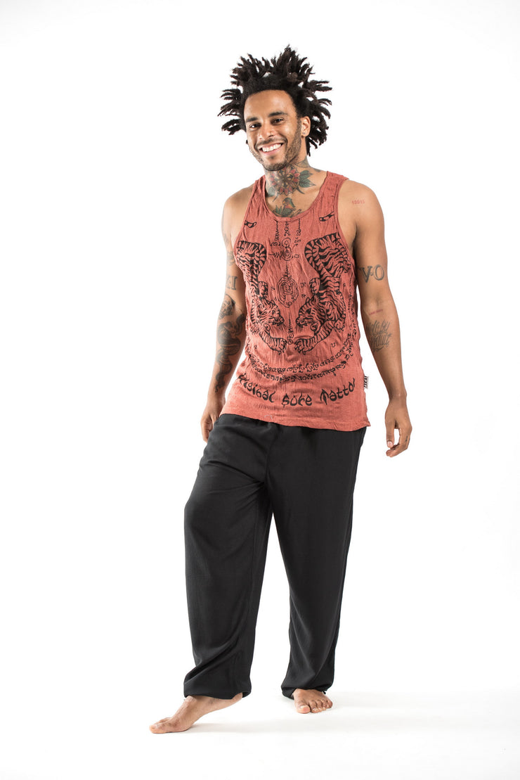 Mens Thai Tattoo Tank Top in Brick