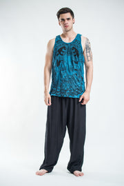 Mens Batman Ganesh Tank Top in Denim Blue