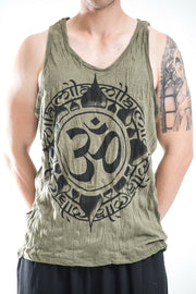 Mens Infinitee Om Tank Top in Green
