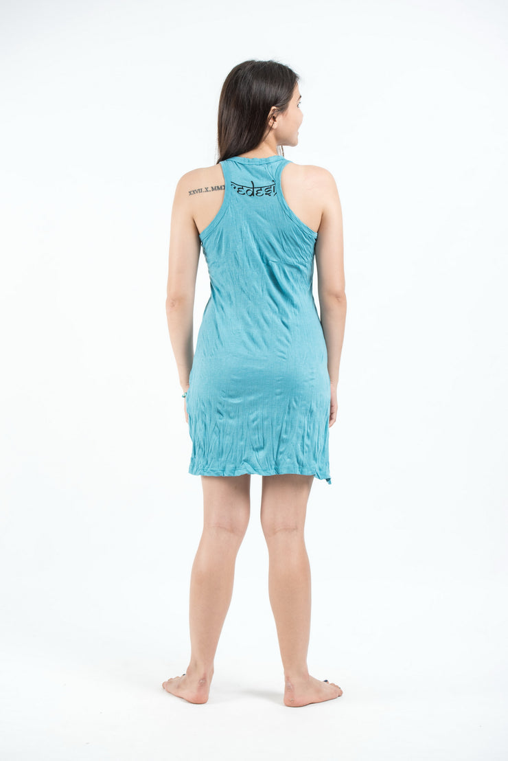 Womens Durga Tank Dress in Turquoise