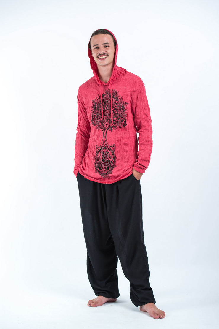 Unisex Celtic Tree Hoodie in Red