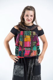 Hmong Hill Tribe Embroidered Patchwork Rainbow Backpack