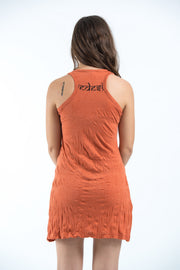 Womens Ganesh Mantra Tank Dress in Orange