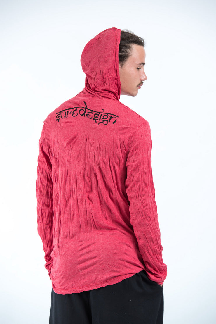 Unisex Om and Koi Fish Hoodie in Red