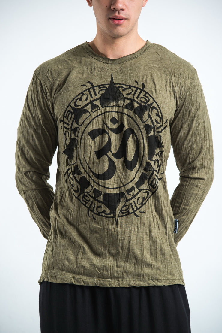 Unisex Infinitee Om Long Sleeve T-Shirt in Green