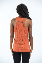 Womens Celtic Tree Tank Top in Orange