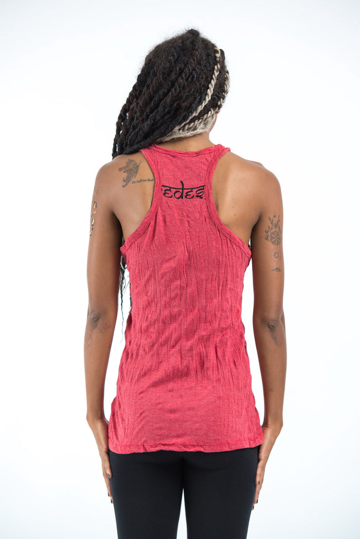Womens Celtic Tree Tank Top in Red