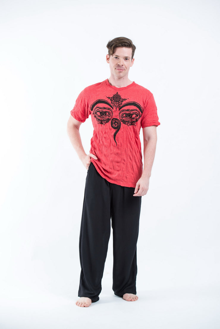 Mens Buddha Eyes T-Shirt in Red