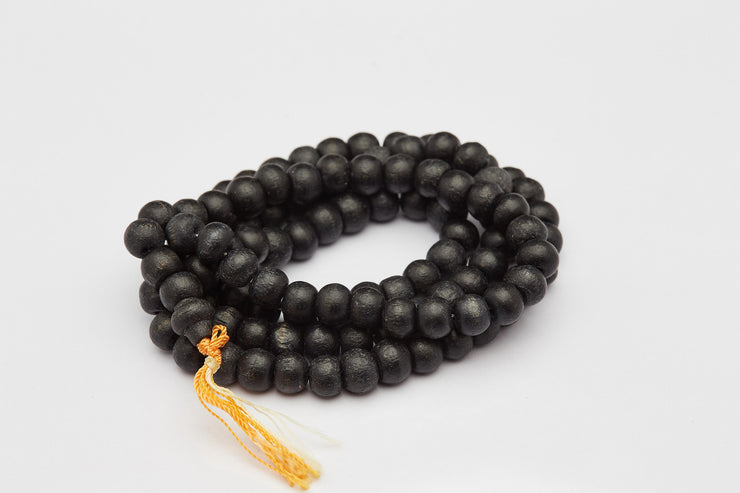 Tibetan Black Wooden Prayer Beads Mala
