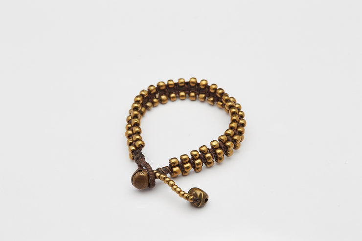 Triple Brass Beads Bracelet with Brass Beads