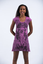 Womens Wild Elephant Dress in Pink