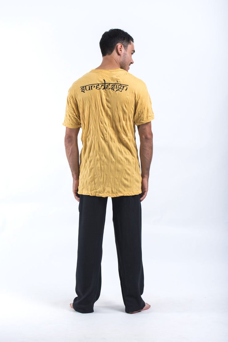 Mens Octopus Weed T-Shirt in Yellow