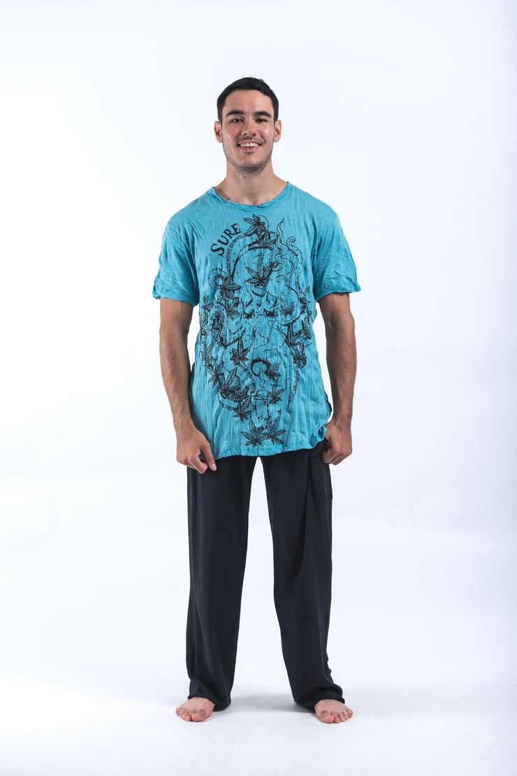 Mens Octopus Weed T-Shirt in Turquoise