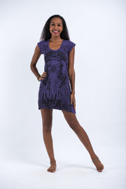 Womens Wild Elephant Dress in Purple