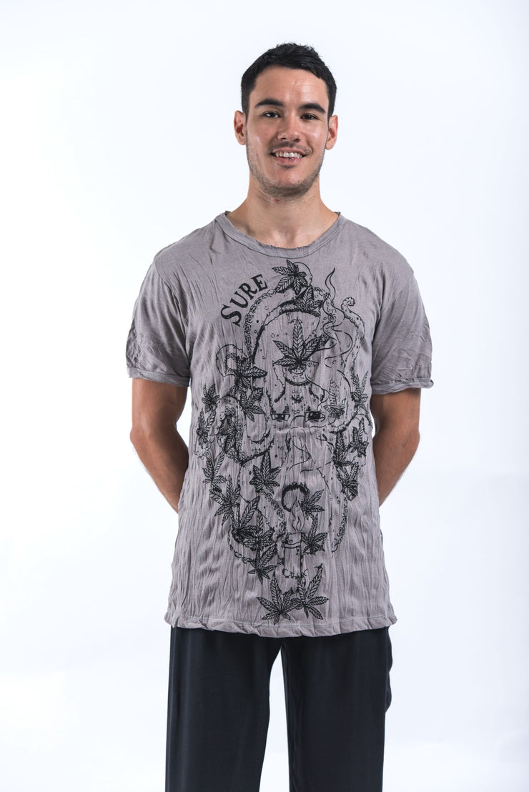 Mens Octopus Weed T-Shirt in Gray