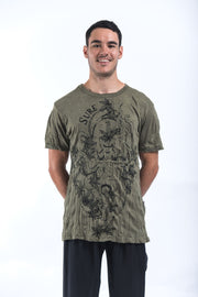 Mens Octopus Weed T-Shirt in Green