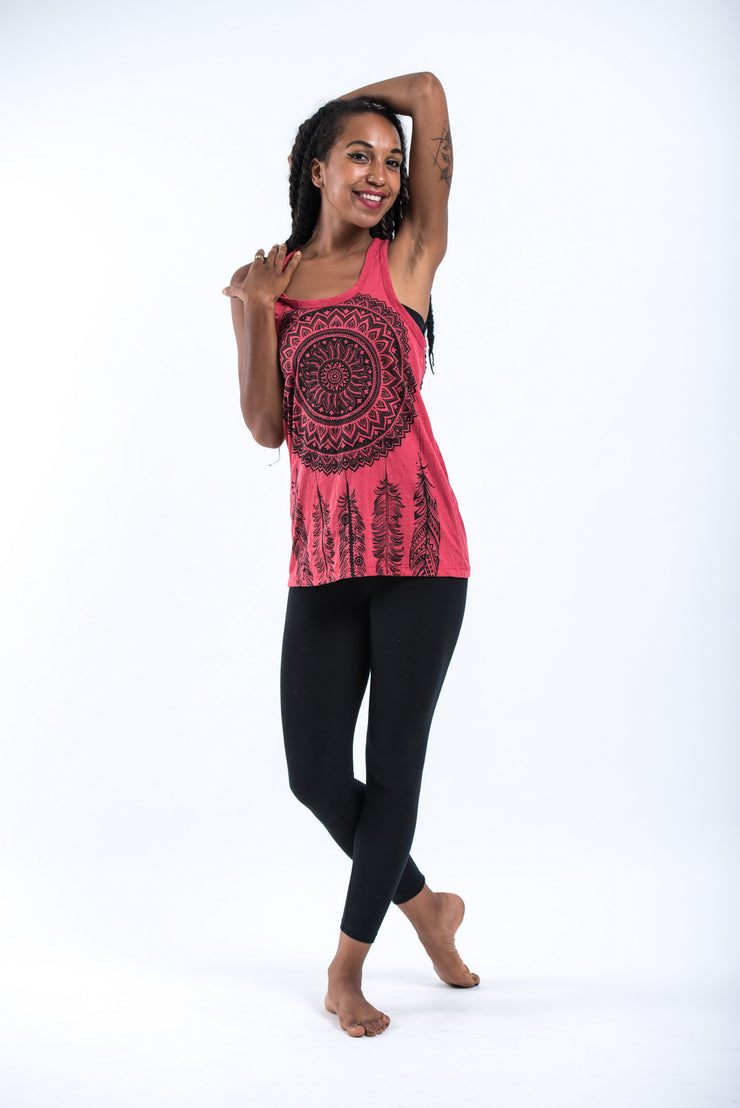 Womens Dreamcatcher Tank Top in Red