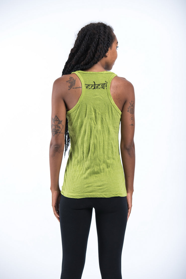 Womens Dreamcatcher Tank Top in Lime