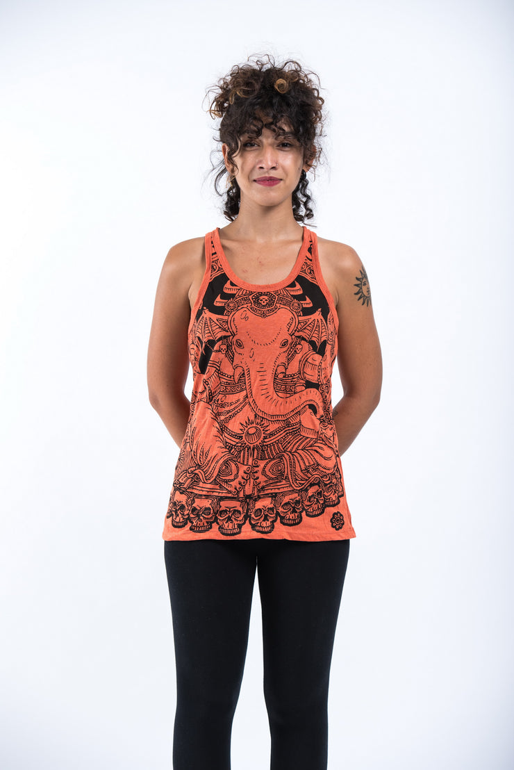 Womens Batman Ganesh Tank Top in Orange
