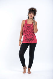 Womens Durga Tank Top in Red