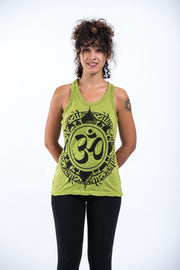 Womens Infinitee Om Tank Top in Lime