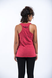 Womens Infinitee Om Tank Top in Red
