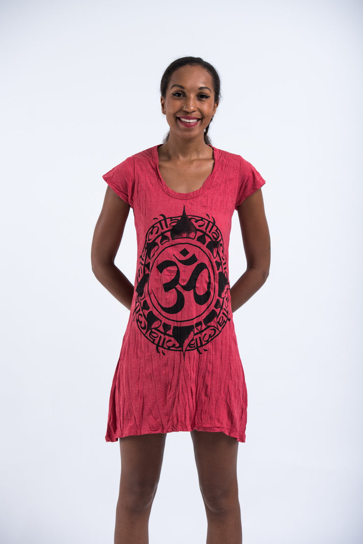 Womens Infinitee Om Dress in Red