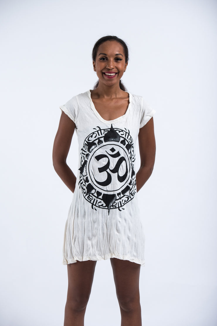 Womens Infinitee Om Dress in White