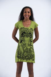 Womens Batman Ganesh Dress in Lime